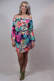 Multi Color Off The Shoulder Dress Full View