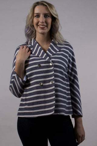 Ally Striped Peacoat