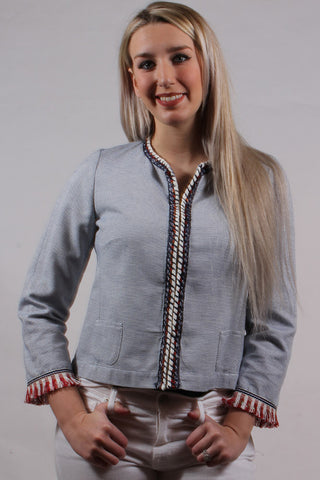 Fringed Sleeve Jacket