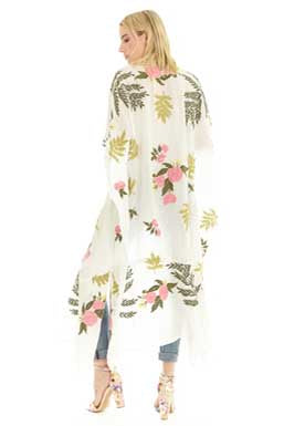 One and Only Floral Kimono By Aratta Back  View
