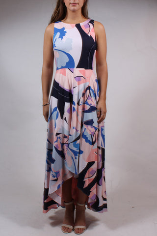 Abstract Hi-Lo Dress