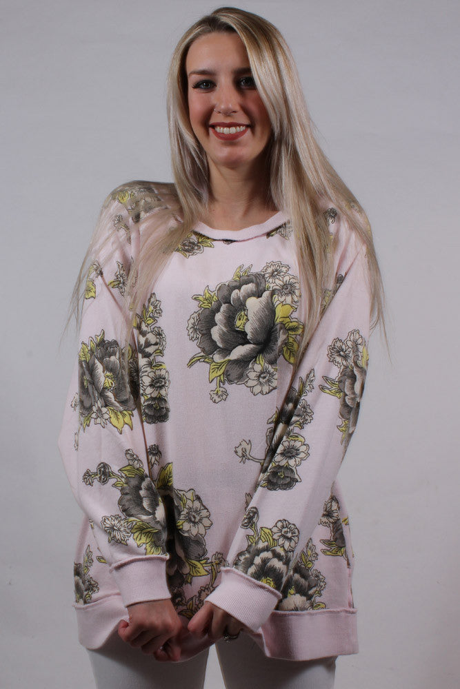 Go On Get Floral Sweatshirt