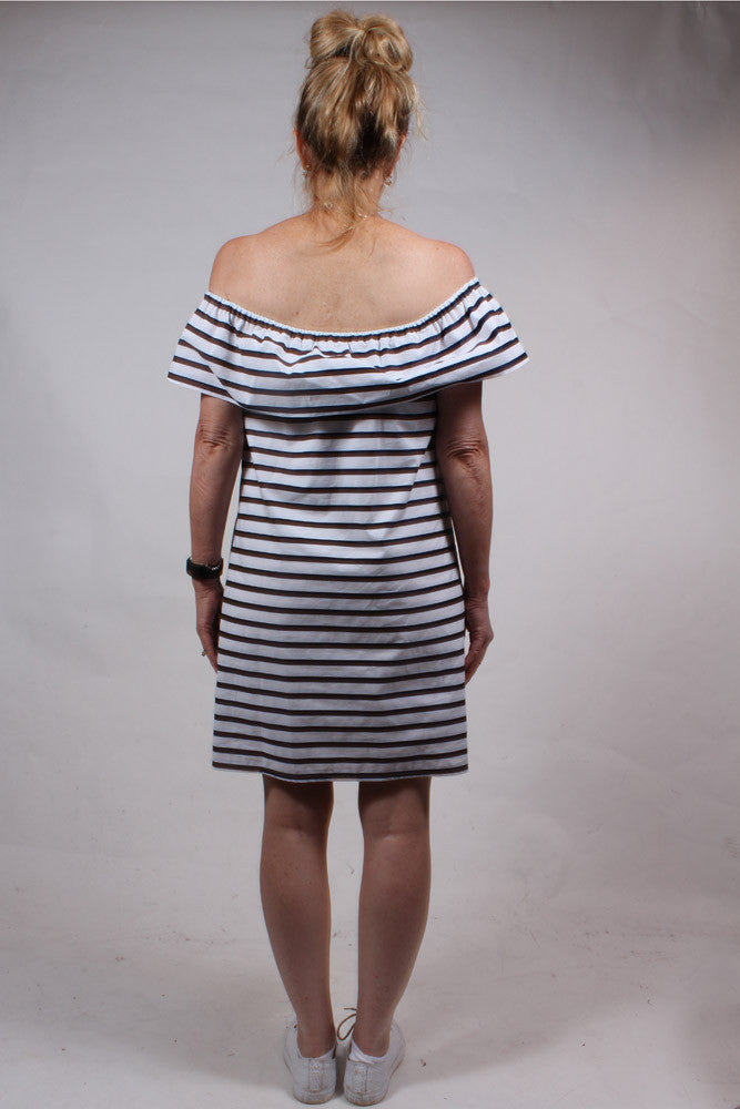Striped Amelie Embroidered Dress