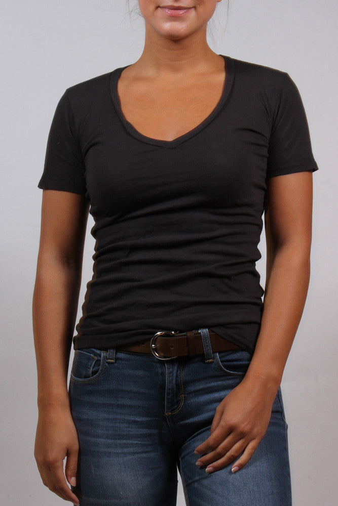 Organic Cotton V-Neck Tee by Groceries Apparel Front View