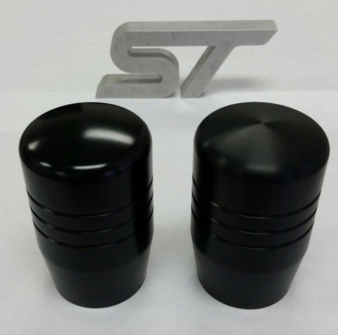 "Boosted Designs Black Aluminum Piston Shift Knob 2.5"" Tall - Boosted Designs"