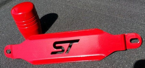 Boosted Designs Red Focus ST Battery Tie Down & Shift Knob Combo - Boosted Designs