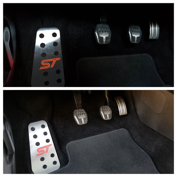 Boosted Designs Red Back Lit Focus ST & Fiesta ST Dead Pedal - Boosted Designs