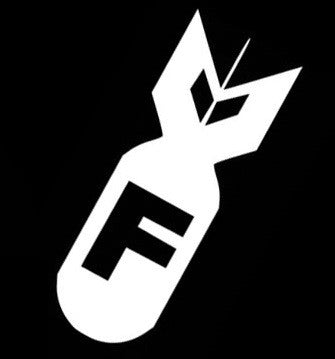 """F Bomb"" Vinyl Sticker - Boosted Designs"
