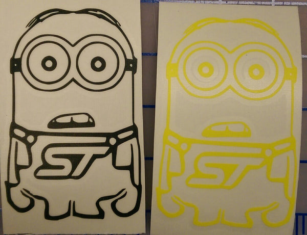 Focus ST Minion Vinyl Sticker - Boosted Designs