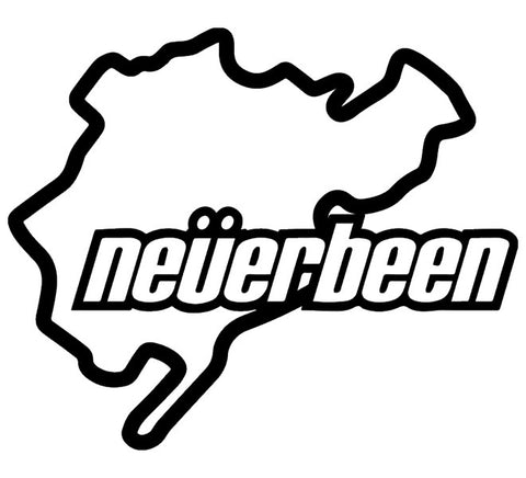 """Neverbeen"" Vinyl Sticker - Boosted Designs"