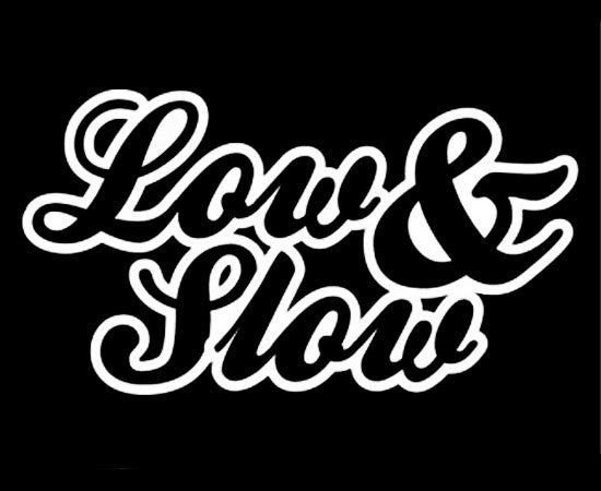 """Low and Slow"" Vinyl Sticker - Boosted Designs"