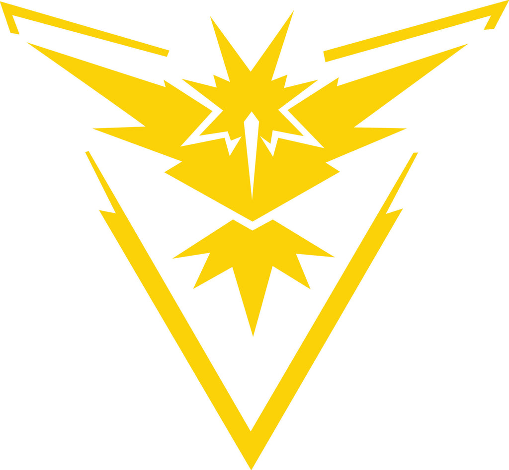 Pokemon Go Team Instinct Decal Boosted Designs