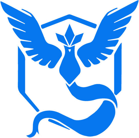 ! Pokémon Go Team Mystic Decal - Boosted Designs
