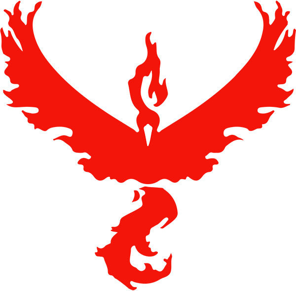 ! Pokémon Go Team Valor Decal - Boosted Designs