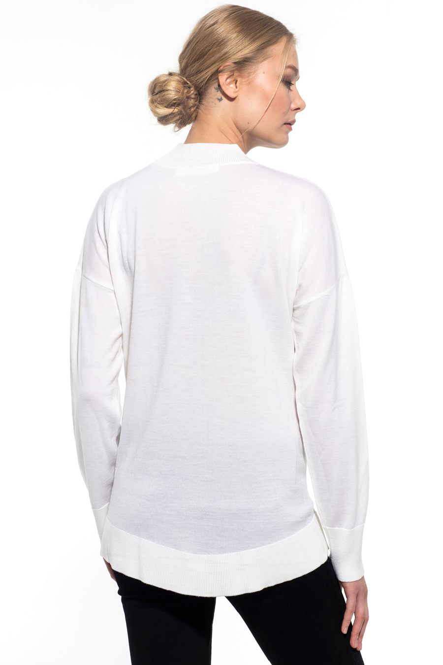 Mock Neck Lightweight Merino Triko