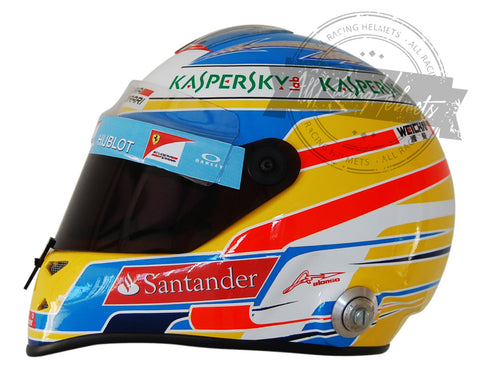 Fernando Alonso 2014 F1 Replica Helmet Scale 1:1