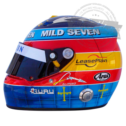 Fernando Alonso 2004 F1 Replica Helmet Scale 1:1
