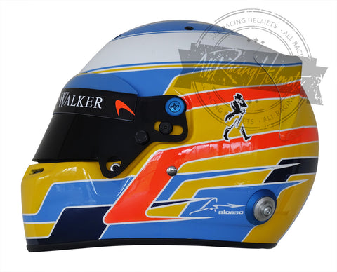 Fernando Alonso 2017 F1 Replica Helmet Scale 1:1