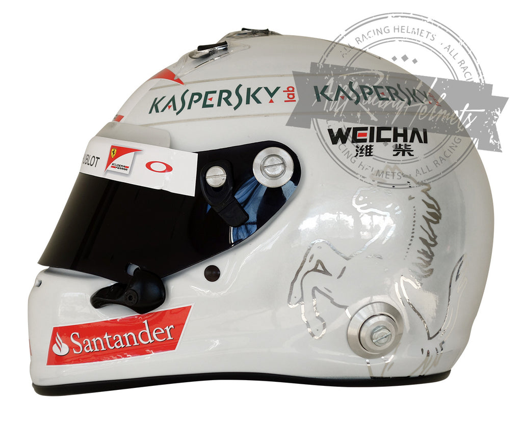 Sebastian Vettel 2015 New Chromed F1 Replica Helmet Scale 1:1