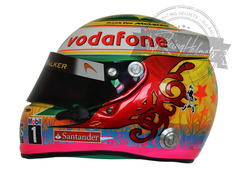 Lewis Hamilton 2012 Interlagos F1 Replica Helmet Scale 1:1
