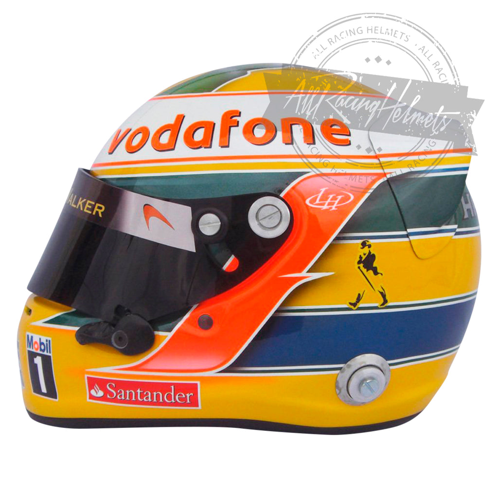 Lewis Hamilton 2011 F1 Interlagos GP Replica Helmet Scale 1:1