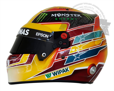 Lewis Hamilton F1 2017 SPA GP Replica Helmet Scale 1:1