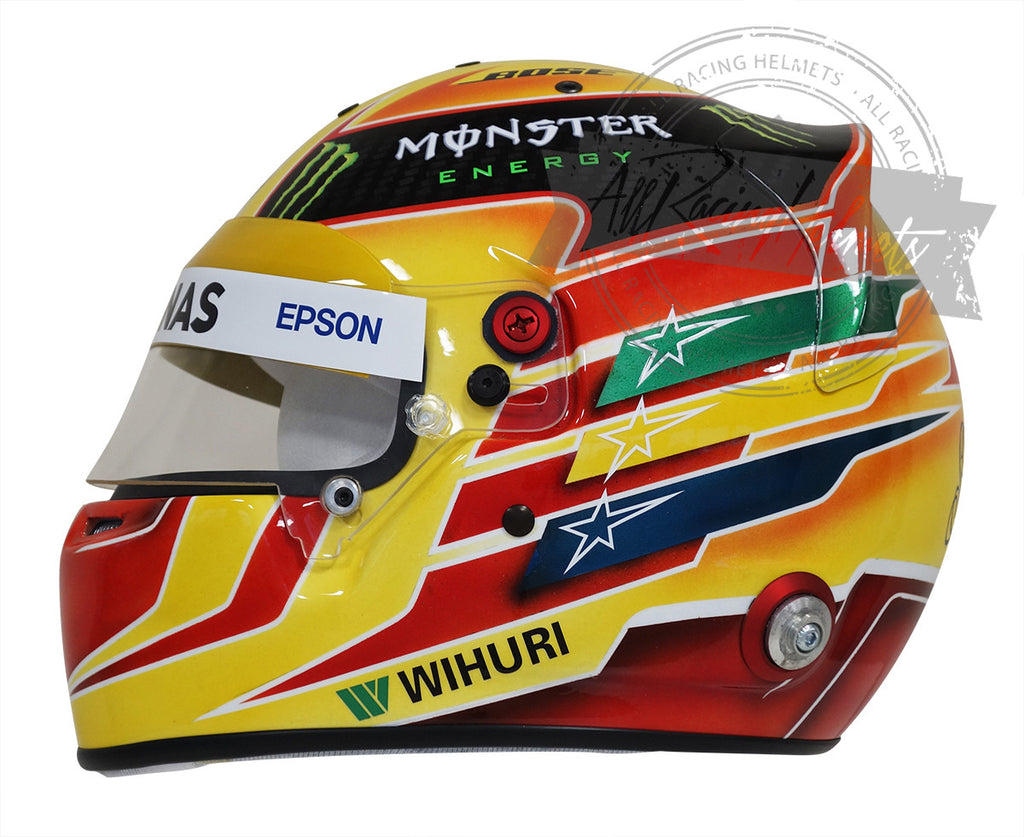 "Lewis Hamilton F1 2017 ""Yellow"" Replica Helmet Scale 1:1"