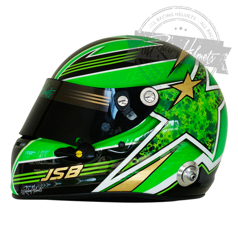 JSB Gold & Green Star Helmet
