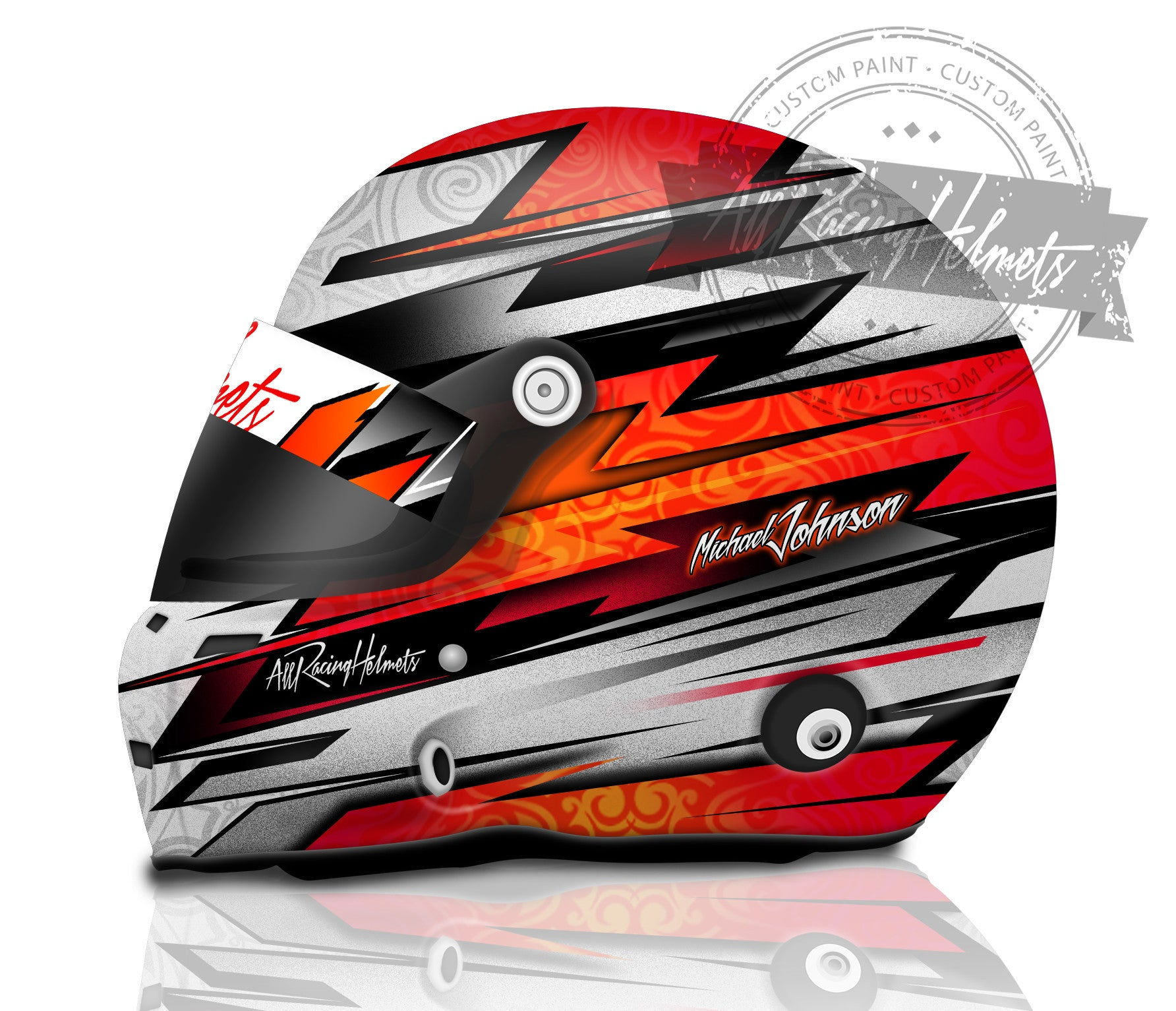 Michael Johnson Custom Paint Helmet All Racing Helmets
