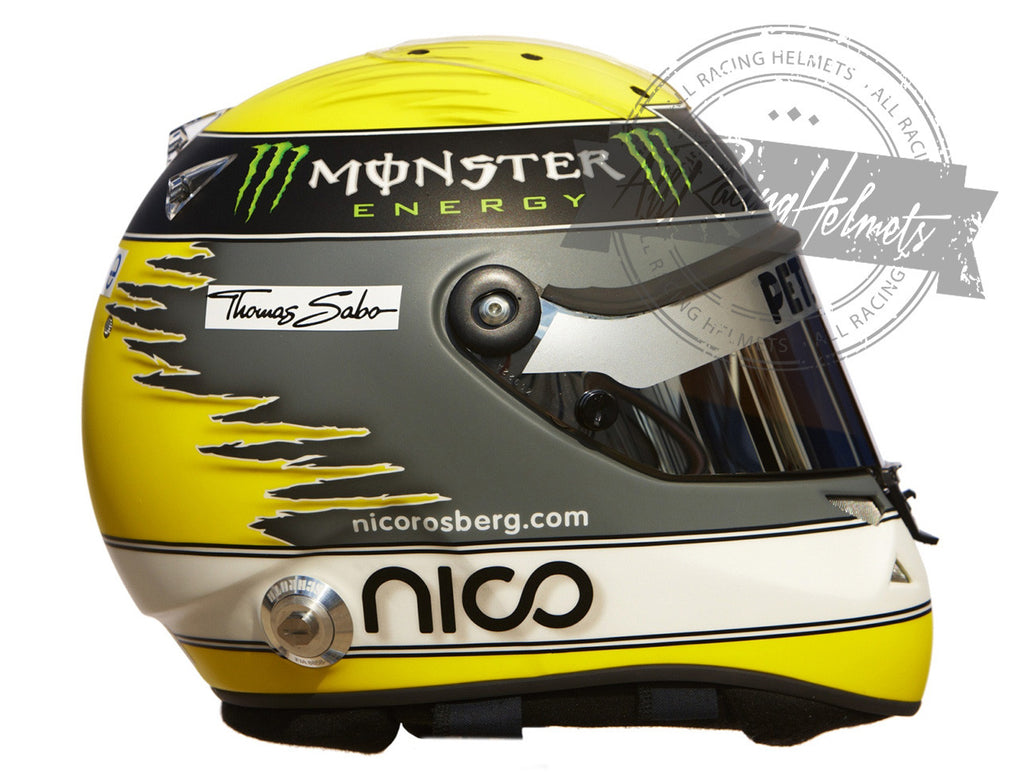 Nico Rosberg 2011 F1 Replica Helmet Scale 1:1 - All Racing ...
