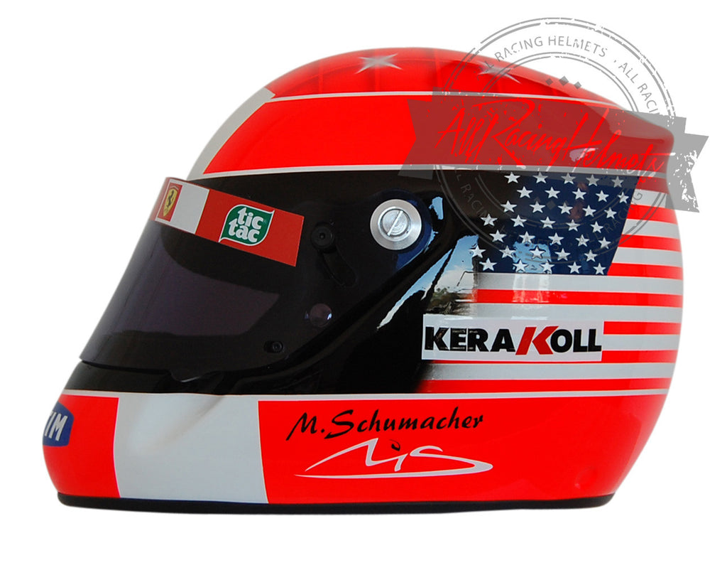 Michael Schumacher 2001 Indianapolis Replica Helmet Scale 1:1