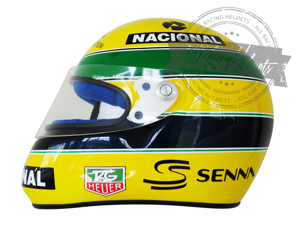 ayrton senna 1993 paris bercy karting replica helmet scale 1 1 all racing helmets. Black Bedroom Furniture Sets. Home Design Ideas