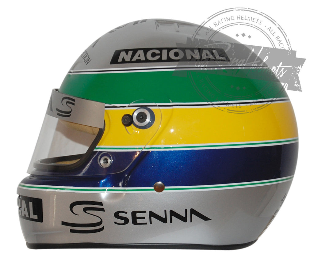 "Ayrton Senna ""10 years Platinum Edition"" Replica Helmet Scale 1:1"