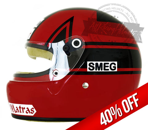 Gilles Villeneuve 1979 F1 Replica Helmet Scale 1:1 (Hot Sale)