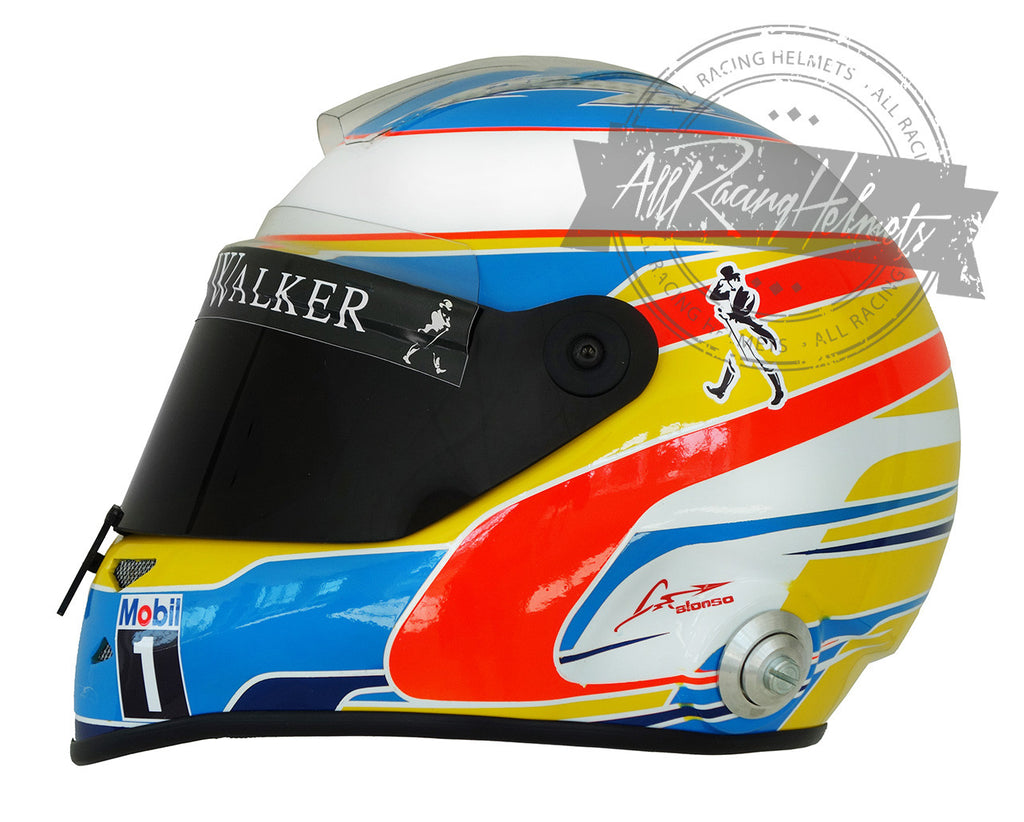 Fernando Alonso 2015 F1 Replica Helmet Scale 1:1
