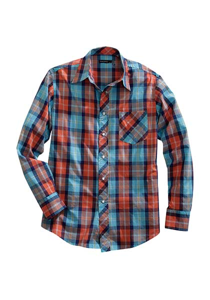 Men's Sunset Plaid - Henderson's Western Store