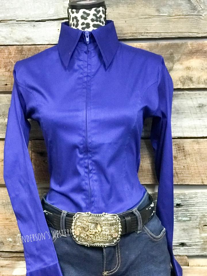 a7bc3074f1281 Fitted Zip Front Show Shirt – Henderson s Western Store