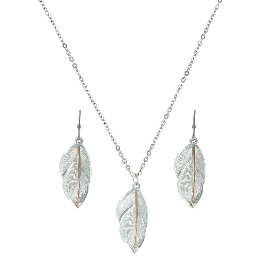 Downy Feather Necklace Set - Henderson's Western Store