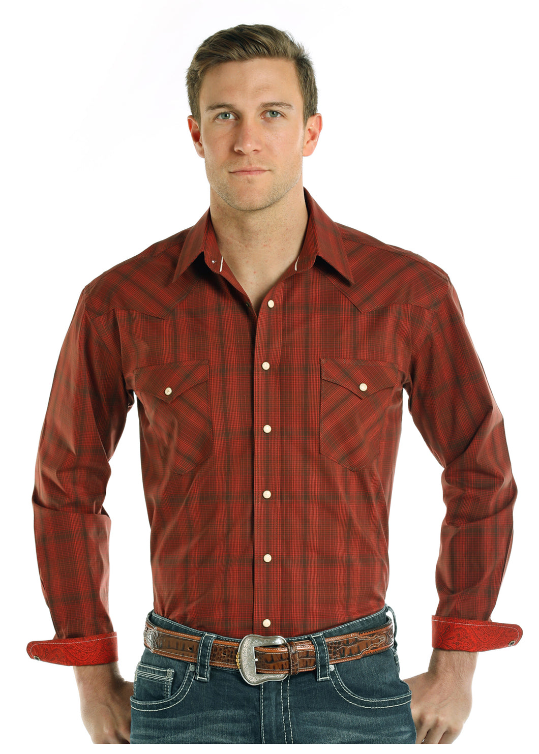Rust Stretch Shirt - Henderson's Western Store