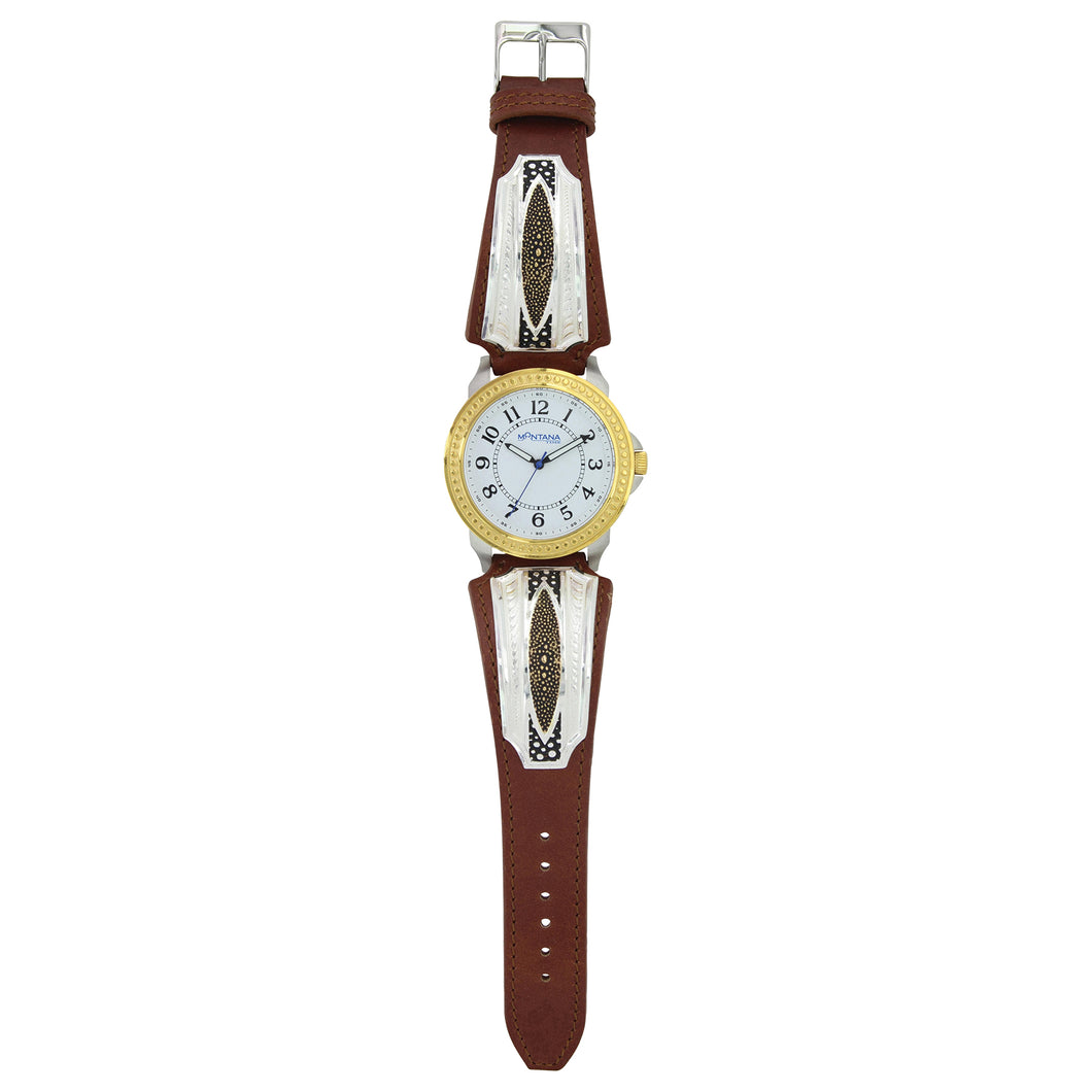 Two Tone River Pebbles Leather Watch - Henderson's Western Store