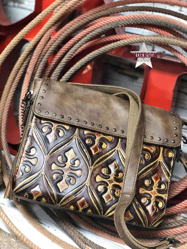 Angel Ranch Tooled Crossbody - Henderson's Western Store
