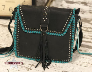 Load image into Gallery viewer, Delila Leather Messenger Bag - Henderson's Western Store