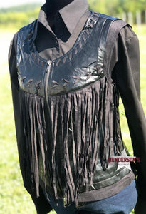 Load image into Gallery viewer, Western Fringe Vest - Henderson's Western Store