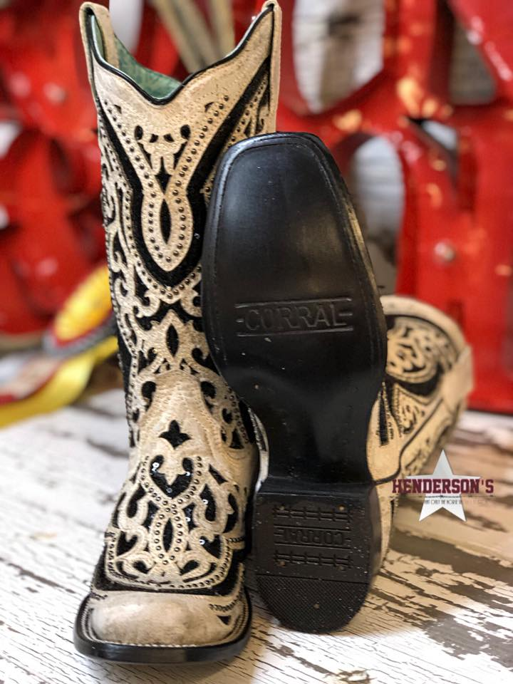 Bone W/Black Inlay - Henderson's Western Store