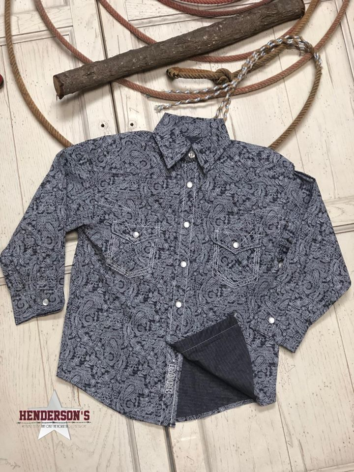 Boy's Paisley Print Shirt - Henderson's Western Store