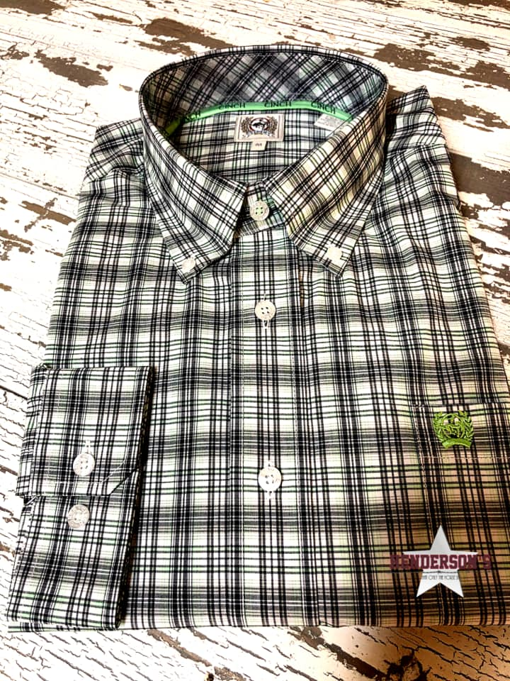 Cinch Green & Navy Plaid - Henderson's Western Store
