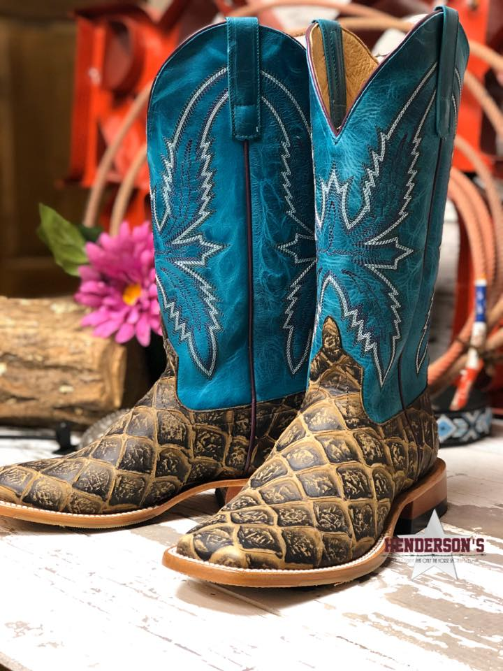 Ladies Cocoa Filet Fofish Boots (faux) - Henderson's Western Store