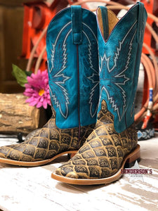 Load image into Gallery viewer, Ladies Cocoa Filet Fofish Boots (faux) - Henderson's Western Store