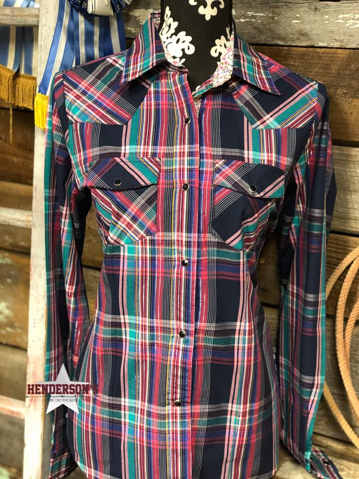 Cowgirl Legend Plaid ~ Navy - Henderson's Western Store