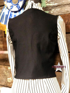 Load image into Gallery viewer, Cropped Ultimate DIY Vest ~ Black - Henderson's Western Store